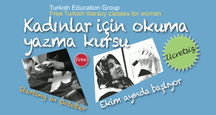 Free Turkish literacy classes for women
